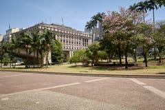 Cidade de Sao Paulo, vale de Anhangabau Imagens de Stock Royalty Free