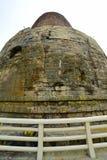 A cidade de Sarnath, um stupa antigo construída em honra do primeiro sermão da Buda India Imagens de Stock
