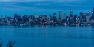 A cidade de Seattle ilumina 3 fotografia de stock royalty free