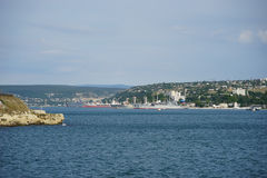 A cidade de Sevastopol do mar com Fotografia de Stock