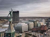 Cidade de Sheffield imagem de stock royalty free
