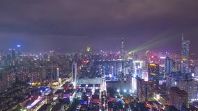 Cidade de Shenzhen na noite r Guangdong, China vídeos de arquivo