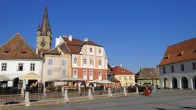 Cidade de Sibiu em Romênia Fotos de Stock Royalty Free