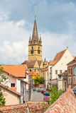 Cidade de Sibiu, Romania Fotos de Stock Royalty Free