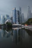 Cidade de Singapore na manhã Fotografia de Stock