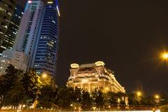 Cidade de Singapore na noite Fotos de Stock