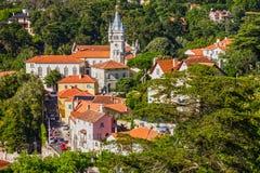 Cidade de Sintra, Portugal: Casas históricas Imagem de Stock