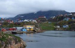 Cidade de Sisimiut, Greenland. fotografia de stock
