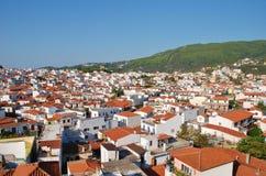 Cidade de Skiathos, Grécia Foto de Stock