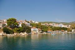 Cidade de Skiathos (Greece) fotos de stock royalty free