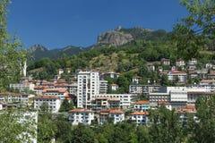 A cidade de Smolyan na montanha de Rhodope Foto de Stock Royalty Free