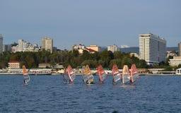 Cidade de Sochi - recurso, o capital olímpico foto de stock royalty free