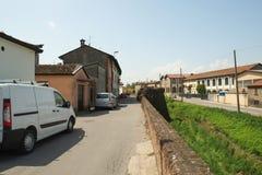 Cidade de Soncino, Itália fotografia de stock royalty free