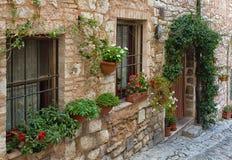 Cidade de Spello, Úmbria, Itália Imagem de Stock