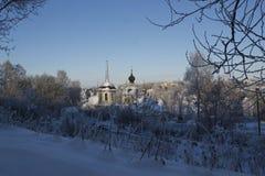A cidade de Staritsa, Tver, Rússia Imagens de Stock Royalty Free