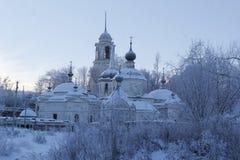 A cidade de Staritsa, Tver, Rússia Fotografia de Stock