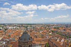 Cidade de Strasbourg - vista aérea fotografia de stock royalty free