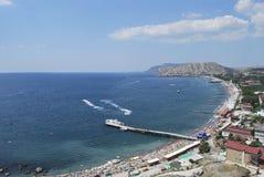 Cidade de Sudak em Crimeia Fotografia de Stock Royalty Free
