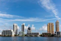Cidade de Sunny Isles Beach, Florida fotos de stock