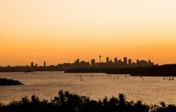 Cidade de Sydney na manhã do verão imagem de stock
