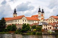Cidade de Telc, República Checa Imagem de Stock