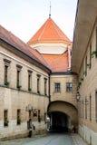 Cidade de Telc, República Checa Fotografia de Stock