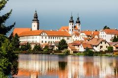 Cidade de Telc, República Checa, UE Imagens de Stock