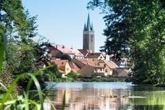 Cidade de Telc, República Checa, UE Foto de Stock Royalty Free