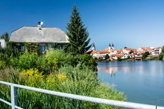 Cidade de Telc, República Checa, UE Imagem de Stock Royalty Free