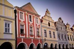 Cidade de Telc, República Checa, UE Fotografia de Stock