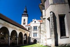 Cidade de Telc, República Checa, UE Fotos de Stock