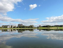 Cidade de Telsiai, Lituânia Imagem de Stock Royalty Free