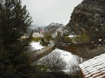 A cidade de Teruel nevou Fotografia de Stock