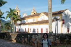 Cidade de Tiradentes -米纳斯吉拉斯州 库存照片