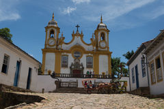 Cidade de Tiradentes -米纳斯吉拉斯州 图库摄影
