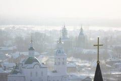 A cidade de Tobolsk Fotos de Stock Royalty Free
