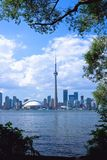 Cidade de Toronto com frame Imagem de Stock Royalty Free