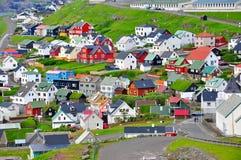 Cidade de Torshavn, Ilhas Faroé imagens de stock royalty free