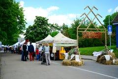 Cidade de Trakai justa no dia da cidade o 31 de maio de 2015 Fotos de Stock Royalty Free