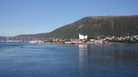 Cidade de Tromso foto de stock