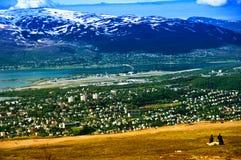 Cidade de Tromso imagem de stock royalty free