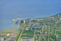 Cidade de Tromso na costa do mar norueguês noruega Fotos de Stock