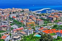 A cidade de Tropea, Calabria, Itália Imagens de Stock Royalty Free