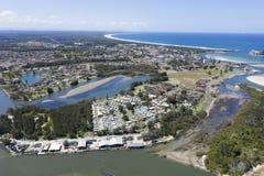 A cidade de tuncurry, Novo Gales do Sul imagem de stock royalty free