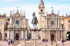 Cidade de Turin em Itália Fotos de Stock Royalty Free