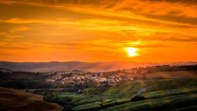Cidade de Tuscan Foto de Stock Royalty Free