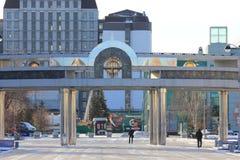 Cidade de Tyumen e russo Sibéria Nascer do sol no parque de diversões Foto de Stock