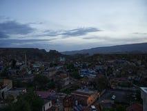 Cidade de Urgup no alvorecer fotos de stock royalty free