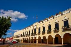 Cidade de Valladolid de Iucatão México imagens de stock