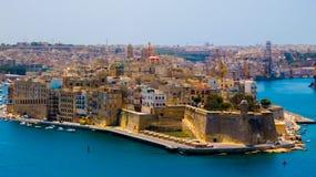 Cidade de valletta em Malta Fotografia de Stock